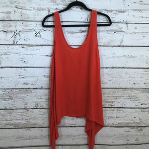 Gillia Orange Lightweight Flowy Tank Hawaii.